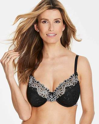 Pretty Secrets Evie Black/White Underwired Full Cup Bra