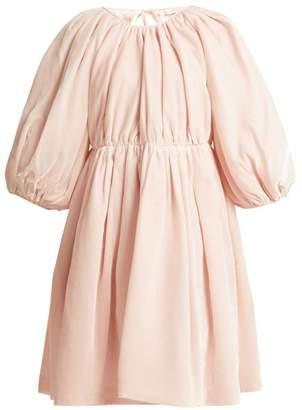 Cecilie Bahnsen - Ava Velvet Mini Dress - Womens - Light Pink