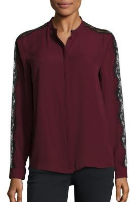 The Kooples Wavy Crepe Shirt $265 thestylecure.com