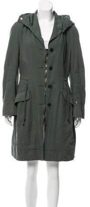 Ermanno Scervino Hooded Lightweight Coat