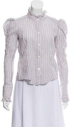 Petersyn Striped Button-Up Top