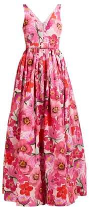 Borgo de Nor Isabella Floral Print Cotton Blend Maxi Dress - Womens - Pink Multi