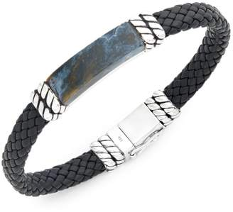 Effy Sterling Silver, Leather & Pietersite Bracelet