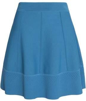 Sandro Flared Stretch-Ponte Mini Skirt