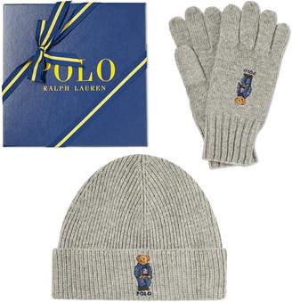 Polo Ralph Lauren Classic Bear Glove & Hat Gift Box