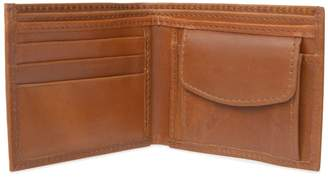 VIDA VIDA - Classic Tan Leather Wallet With Coin Pocket