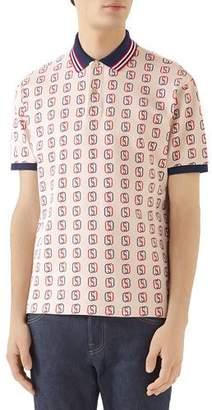 b21d8cd8 Gucci Men's GG Logo Cotton Pique Polo Shirt