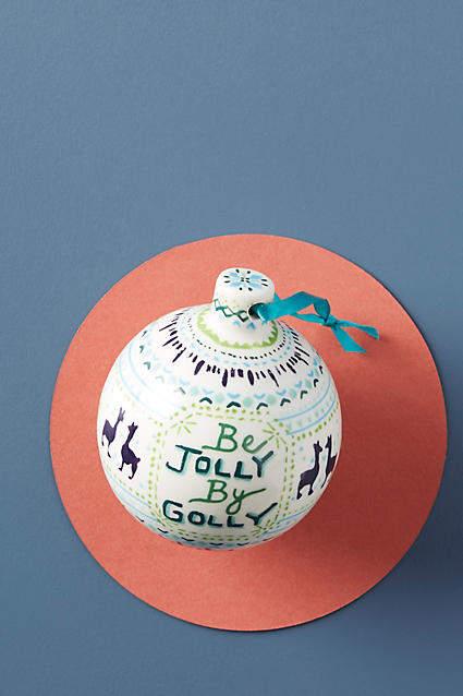 Laura Schwamman Jolly Ornament