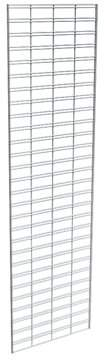 Econoco Metal Slat Grid for Any Retail Display or Home Storage, 2 Width x 7 Height, 3 Grids Per Carton (CHROME)