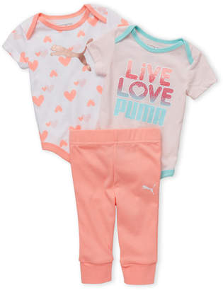 Puma Newborn Girls) 3-Piece Printed Layette Set