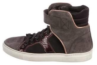 Lanvin Colorblock High-Top Sneakers