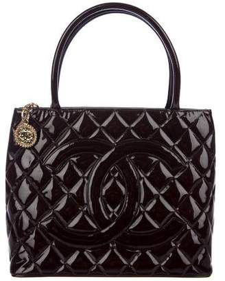 Chanel Patent Medallion Tote