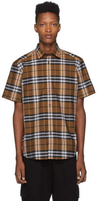 Burberry Orange Check Caxton Shirt