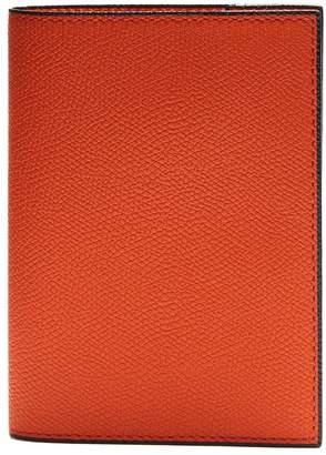 Valextra Grained-leather passport holder