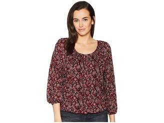 MICHAEL Michael Kors Bandana Scoop Neck Peasant Top