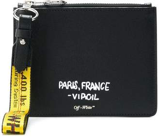 Off-White for display only pouch
