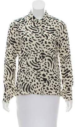 Reformation Printed Button-Up Top