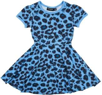 Rock Your Baby Blue Leopard Dress