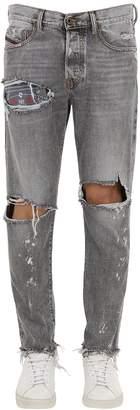 Diesel Mharky Destroyed Cotton Denim Jeans