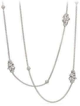 David Yurman Crossover Station Necklace With Diamonds