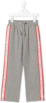 Ermanno Scervino branded side strap track trousers