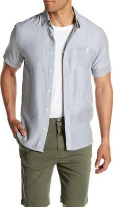Threads 4 Thought Striped Gauze Regular Fit Print Shirt