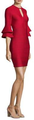 Shoshanna Tiered Bell-Sleeve Mini Dress