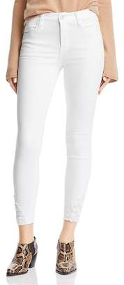 J Brand Alana High Rise Crop Skinny Jeans in Blanc Reign