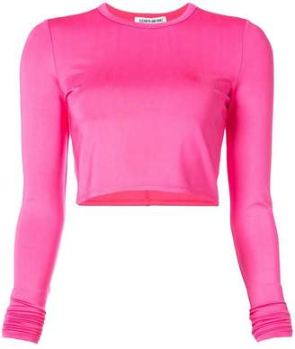 Elizabeth and James cropped long sleeve top