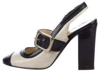 Marc by Marc Jacobs Leather Slingback Pumps
