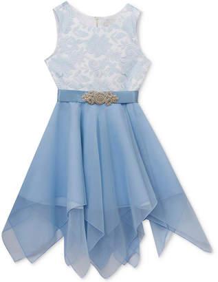 Rare Editions Big Girls Burnout Bodice Party Dress