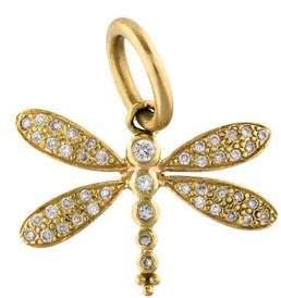 Temple St. Clair 18K Diamond Dragonfly Pendant