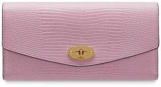 Mulberry Darley Wallet Lilac Blossom Embossed Lizard