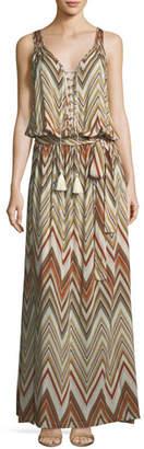 Melissa Odabash Jacquie Tie-Front Zigzag Coverup Dress