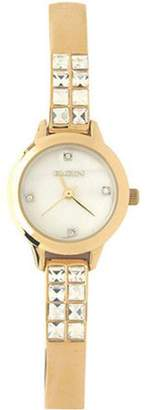 Elgin Women's Watch features genuine crystals and a genuine mother of pearl dial EG9756