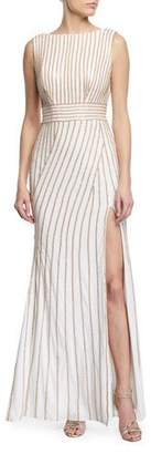 Jovani Sleeveless Beaded Jersey Dress