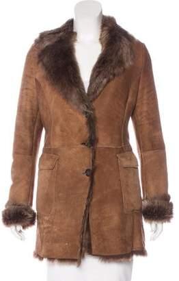 Kiton Suede Shearling Coat