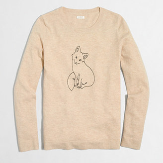 Embroidered fox Teddie sweater $78 thestylecure.com
