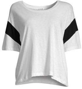 Sundry Colorblock Cropped Tee