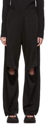 MM6 MAISON MARGIELA Black Knee Zip Lounge Pants