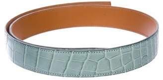 Hermes Crocodile 32MM Belt Strap