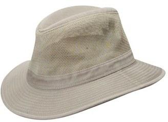 Men's Dorfman Pacific Washed Twill & Mesh Safari Hat - Beige $33 thestylecure.com