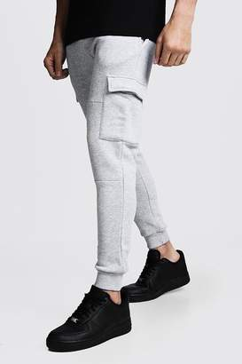 boohoo Skinny Fit Panelled Cargo Joggers