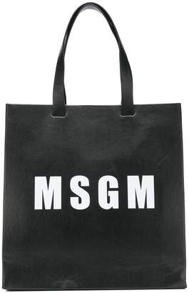 MSGM logo shopper tote bag