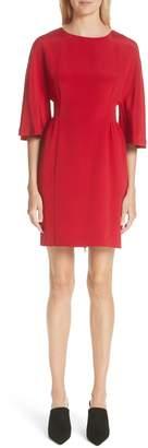 ADAM by Adam Lippes Bell Sleeve Silk Crepe Dress