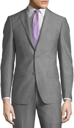 Michael Kors Slim-Fit Neat Herringbone Two-Piece Suit, Light Gray