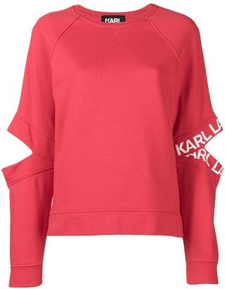 Karl Lagerfeld cut out jumper