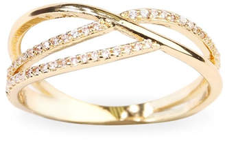 Riah Fashion Infinity-Wave Closed Ring