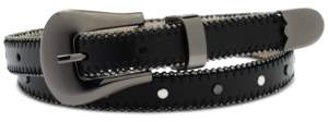 INC International Concepts I.n.c. Shot Bead and Studded Faux Leather Belt, Created for Macy's