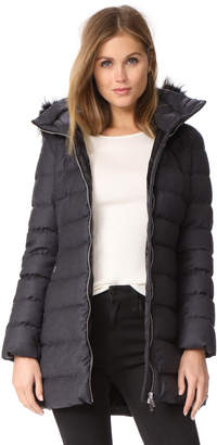 ADD Fur Trim Wool Puffer Coat